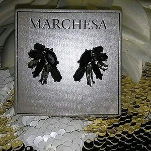 MARCHESA Button earrings. Regal earrings.